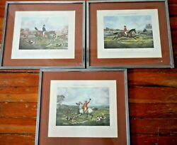 Lot Of 3 H Alken , English Fox Hunting Engraving. One Of The Flowers Of Our Hunt