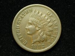 Spring Sale Xf 1882 Indian Head Cent Penny W /full Liberty And Diamonds 31
