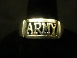 Sterling Silver 925 Military Army Us Band Ring Size 10 New Menand039s Free Shipping