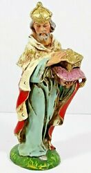 Vintage Fontanini Paper Mache Composition 8 Standing Wise Man Nativity Italy