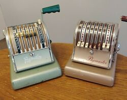 Vintage Paymaster Series 600 And S-600 Check Writer Printer Movie Prop Lot
