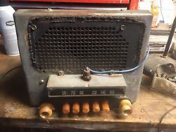 Vintage 1940and039s Chevrolet Car Radio Oem Original Condition Chevy With Speaker