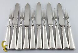 Thomas Bradbury And Sons Argent Sterling Cocktail Fourches Et Couteaux Fruit Set