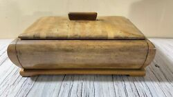 Vintage Jewelry Wooden Box Handmade Crafts Jewelry Carved Box Chest Decor