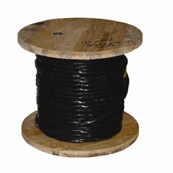 Black 1000ft Service Entrance Wire Cable Outdoor Stranded Aluminum 4 Gauge Use-2