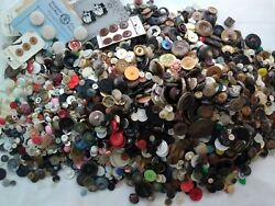 Vintage Lot Of Estate Find Sewing Buttons Over 13 Lbs Unsorted