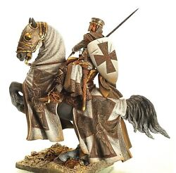 90 Mm Superb Elite Painting In St.petersburg.knight Templar In Holy Land
