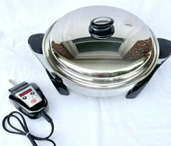 Saladmaster 12 Electric Oil Core Skillet With Cover Newest Design