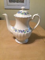 J And G Meakin Classic White Teapot Floral England Great Britain Dinnerware