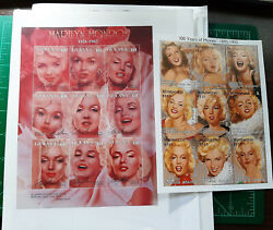 Lots Of Rare Stamps Marilyn Monroe, Trains, Ships, Indian Chiefs,mickey Mouse