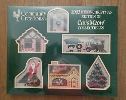 Vintage Community Creations 1993 Hershey's Christmas Cats Meow Collectibles