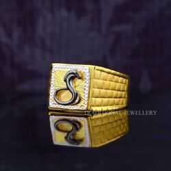 Goga Ji Snake 22k Yellow Gold Fine Simple Plain Ring For Routine Use And Gift 61