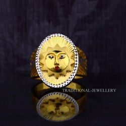 And039suryaand039 Sun 22k Yellow Gold Fine Simple Plain Ring For Routine Use And Gift 62