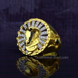 Goga Ji Snake 22k Yellow Gold Fine Simple Plain Ring For Routine Use And Gift 67
