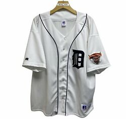 Vintage Detroit Tigers Mlb 2000 Stitched Baseball Jersey White Size Xl Russell