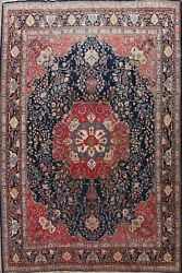Antique Floral Traditional Area Rug Palace Size Hand-knotted Wool Carpet 12x14