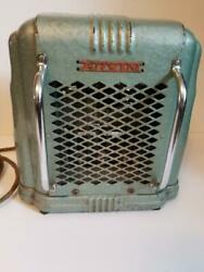 Vintage Arvin Space Heater Portable Electric Green Model 103