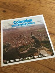 Braniff International Airlines 1970s Columbia 15x15 In Travel Poster