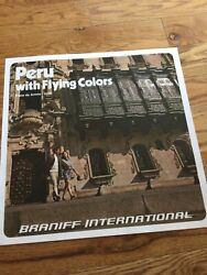 Braniff International Airlines 1970s Peru 15x15 In Travel Poster