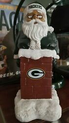 New 🏈 Forever Collectibles Nfl Green Bay Packers Santa In Chimney