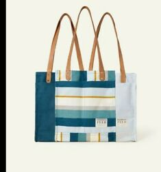 FEED PROJECTS Causebox Canvas Market Tote Bag Sea Blue Spring 2021 $39.99