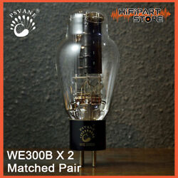 2pc Psvane We300b Matched Pair Replica Western Electric 300b Gold Lion Px300b
