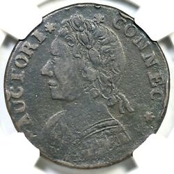 1788 12.1-f.1 R-3 Ngc Vf Details Connecticut Colonial Copper Coin