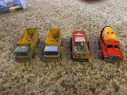 1960s And 1970s Lot Of 4 Matchbox Vintage Collectibles Cars And Trucks
