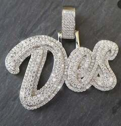 3 Any Letters Personalized Designer Hip Hop Custom Pendant 925 Sterling Silver