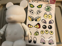 """Disney Vinylmation 9"""" Create Your Own Blank White Hard To Find Custom W/stickers"""