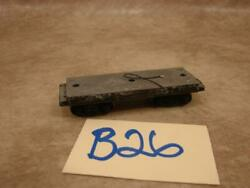 B26b Vintage Ho Scale Solid Cast Chassis Flat Bed Car Wired Brass Wheels