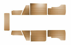 For Vw T3 T25 Bus 1985-1992 Door Panels 9 Pcs Tobacco O.p. Late Style