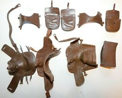 Old Marx 1960s Best Of The West Western Saddles With Accessories 9 Pieces 6i