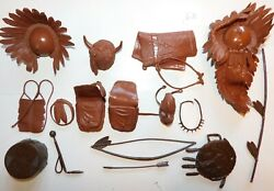 Old Marx 1960s Best Of The West Chief Cherokeeand039s Indian Accessories 16 Pcs. 6b