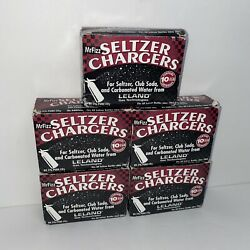 50 Leland Mr. Fizz Seltzer Soda Co2 Chargers 5 Boxes Of 10 8gm Cartridges | New