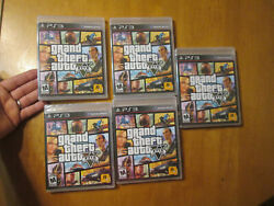 Lot Grand Theft Auto V 5 Ps3 Playstation 3 Sony Black Label First Print New Read