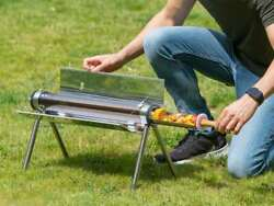 Outlust Solar Kitchen Grill Barbeque Grilling Equipment Cordless Grill