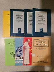 Catholic Encyclical And Thin Paperback Book Lot Of 8 Booklet Pope Pius Religion