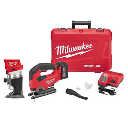 M18 Fuel 18-volt Lithium-ion Brushless Cordless Compact Router Jig Saw Combo K