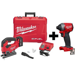 M18 Fuel 18-volt Lithium-ion Brushless Cordless Jig Saw Kit With M18 Fuel Impa