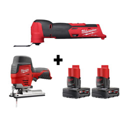 M12 Fuel 12-volt Lithium-ion Cordless Oscillating Multi-tool And Jig Saw With Tw