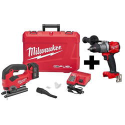 M18 Fuel 18-volt Lithium-ion Brushless Cordless Jig Saw Kit W/ M18 Fuel Hammer D