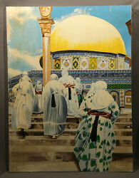 Realistic Oil Painting Mosque The Dome On Mount In Jerusalem John V Griffins