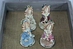 4 Blue Sky Clayworks By Heather Goldminc Angels Of Peace, Love, Joy And 2002