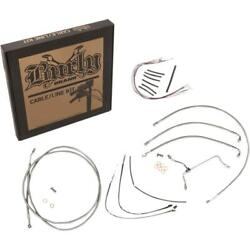 Burly Brand B30-1166 Handlebar Cable/line Install Kit - Stainless Steel