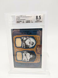 2016 Panini Prime Cuts Babe Ruth Lou Gehrig Bat Jersey Combo 1/1 Bgs 8.5