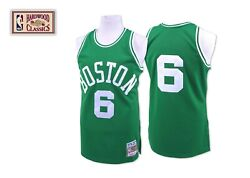 Mitchell Ness Boston Celtics 1962-63 Bill Russell Authentic Green And White Jersey