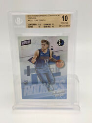 2019 Panini National Convention Rookies /299 Luka Doncic Rc21 Bgs 10 Gem Mint