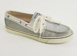 Sperry Top Sider Silver Glitter Size 8.5 M Boat Shoes Sperrys Sliver Gray