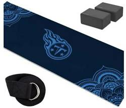 Tennessee Titans Yoga Starter Kit-includes 72 Yoga Mat, 8' Strap And 2 Blocks